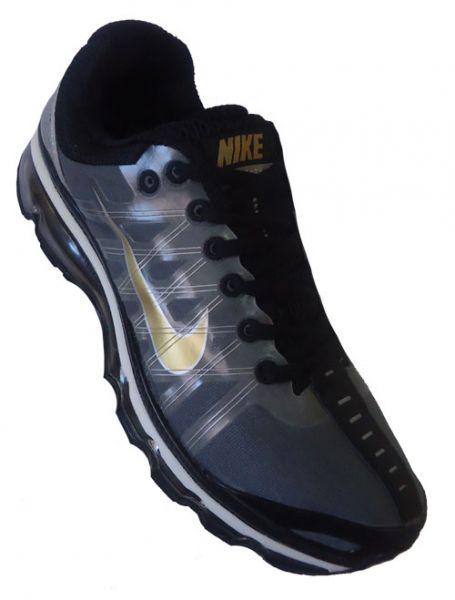 Ilegible espejo de puerta inyectar  Tênis Nike Air Max 360 2009 Grafite e dourado - Mlsissa